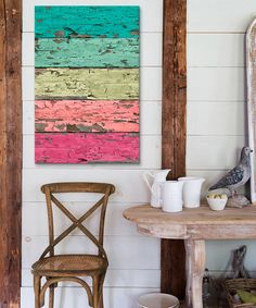 Love this colorful wall art!
