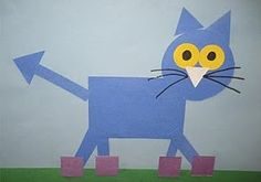 Pete the Shapely Cat- My preschoolers loved making these. It was funny to see where they each put the eyes and nose.