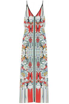 Clover Canyon  Printed crepe de chine maxi dress