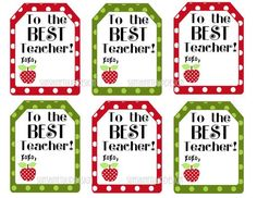 Teacher appreciation gift tags printable printable gift tags free printable favor tags for teachers diy printable teacher appreciation tags negle Images