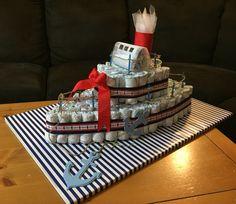 Ship diaper cake