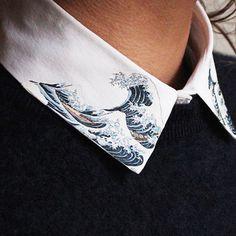 Réalisez un col de chemise Hokusai