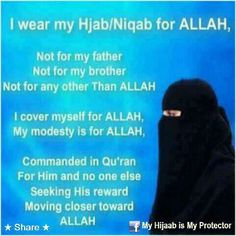 True...but be modest, extremity is bad and ALLAH did not ask to cover the face!!!/NZI