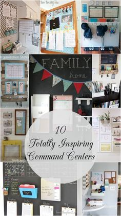 I am Determined 2 Have a Command Center (better than what I gots now) School Starts this year! Ten Totally Inspiring Command Centers // Somewhat Simple & Live Simply by Annie Organization Station, Home Organisation, Household Organization, Office Organization, Organizing Life, Organizing Ideas, Command Center Kitchen, Family Command Center, Comand Center