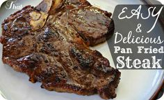 Looking for a fast and easy delicious steak recipe?  Try this Pan Fried Steak Recipe that only takes 5 minutes!