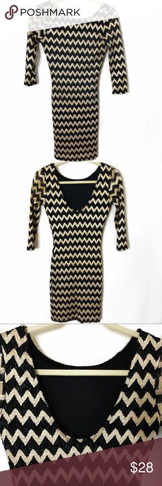 H&M Black And Gold Dress Size: Small EUC H&M Black And Gold Dress Size: Small EUC H&M Dresses Mini