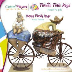 Familia Felíz. Rodo Padilla. Disponible en nuestra tienda Rodo Padilla San Ángel.