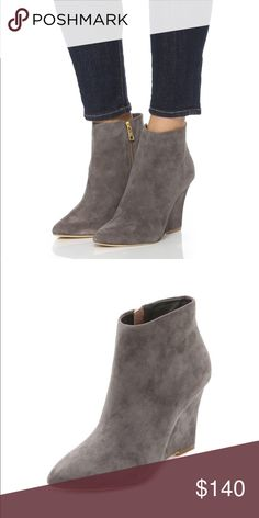 Joie Joie Jalena wedge booties add chic style to any outfit!  Pair them with a slit maxi skirt, jeans or denim shorts.  In great condition and so comfortable!!                                     Original shoe box and dust bag included. Joie Shoes Ankle Boots & Booties