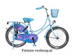 Omafiets Blauw 18 Inch | bestel gemakkelijk online op Fietsen-verkoop.nl