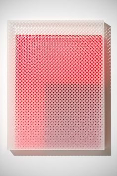 CMF we like / Box/ Holes / red Inside / Holes / pattern / Transparent / at IndustrialDesigners.co |  Eva Speer  - Acrylic