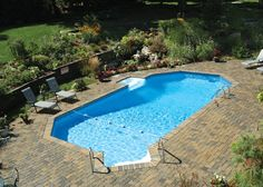 Grecian style pool semi inground pools pinterest for Above ground pool decks tulsa