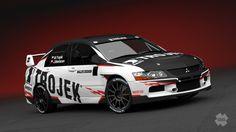 Trojek Racing - redesign of Mitsubishi Lancer Evo IX for season 2013.