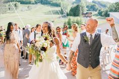Craigleith Ski Club Wedding sequin maid of honour adrianna papell plum bouquet #tiebar Watters Wedding Gown Birdcage veil Tattooed Groom Interracial Couple