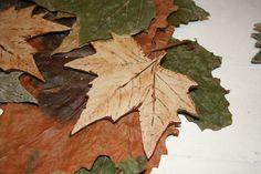 Handmade ceramic Leaf decoration finished in dark red glaze £8.00