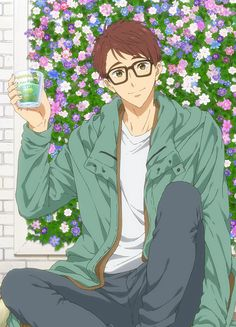 Sad Anime, Anime Guys, Anime Glasses Boy, Splash Free, Free Eternal Summer, Wise Monkeys, Free Iwatobi Swim Club, Kyoto Animation, Sad Art