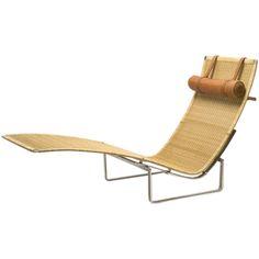 r 20th century - paul kjaerholm for ejvind kold christensen pk24 chaise lounge
