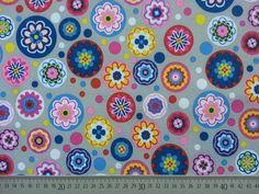 Softshell Blumen Meer - bunt auf hellgrau Softshell, Bunt, Shop, Floral Patterns, Grey, Store