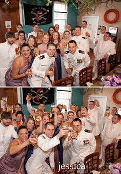 Wedding party in the Pensacola Bay Brewery