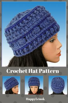 #crochet #hats #beanie #crocheted # patterns #handmadecrafts #slouchy #hooks #baby #chunky #toddler #cable #newborn #warm #bulky yarn #for women #vintage #beginner #with ear flaps #pom pom