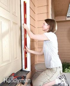A seasoned pro shows you how to replace a front door, step-by-step, including measuring and ordering a new door, removing the old one and ensuring that the Exterior Doors, Entry Doors, Covered Front Porches, Home Repairs, Decorating Blogs, Home Improvement, House, Furniture, Projects