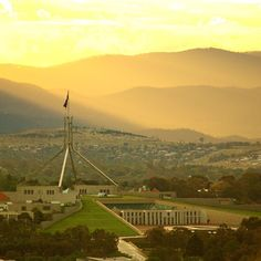 """""""Houses, hills and highlights"""" What a view captured by Instagrammer gcnphoto of the national capital. Thanks for sharing and tagging #visitcanberra"""