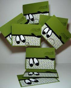 handmade Halloween greeting cards ... Happy Halloween Eyes! ... punch art .. luv these eyes ...