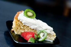Gluten free Tres Leches cake.  YUMMY!!  I do switch whole milk for the evaporated milk for a better flavor.
