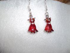 women's heart health earrings by sweetandtreat on Etsy, $5.00