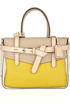cf98509bc6cc Reed Krakoff Leather Tote in Sunny Yellow Beautiful Bags