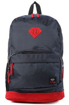 Save 17 dollars with RepCode JOLT135 The Croc School Life Backpack in Navy by Diamond Supply Co.