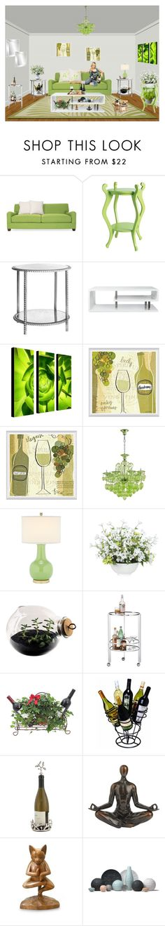 """Purr-fect Shades Of Green"" by lady-rebecca-lyn ❤ liked on Polyvore featuring interior, interiors, interior design, home, home decor, interior decorating, Emporium Home, Furniture of America, Universal Lighting and Decor and Cyan Design"