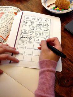 Good idea for practicing quick sketchnotes doodles.Activity from workshop - Fun practice! -> Un dessin par jour :) Visual Thinking, Design Thinking, Visual Note Taking, Sketch Notes, Design Graphique, Grafik Design, Visual Communication, Smash Book, Journal Inspiration