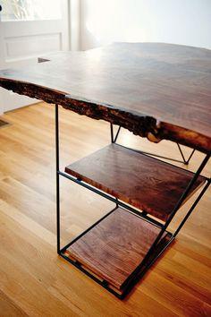 Modern Live Edge Claro Walnut Slab Desk in West LA, Los Angeles ~ Krrb Classifieds