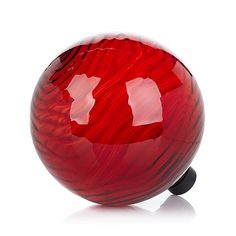 "HGTV HOME 10"" Rippled Glass Gazing Ball  $24.95 S&H: $5.20 Also comes in pretty green"