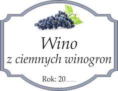 Naklejka na wino z winogron ciemnych