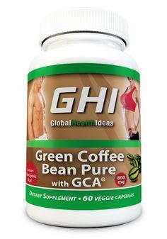 Green Coffee Bean Extract GCA® 800mg Capsules 50% Chlorogenic Acid