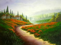 Large Tuscany Art | Tuscany Painting