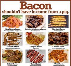 Here's just a few of the many substitutes for bacon #theveganmealplan #myveganmealplan #yourveganmealplan #bacon #substitutes #vegetarian #vegan #veganfood #vegandiet #veganlifestyle