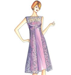 Newsflash: Spring Marfy Patterns Announced – Doctor T Designs Marfy Patterns, Kwik Sew Patterns, Vogue Sewing Patterns, Dress Patterns, Simple Dresses, Cute Dresses, Dress Illustration, Fashion Sketches, New Dress