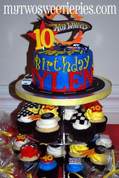 Google Image Result for http://mytwosweetiepies.blog.com/files/2011/09/Hot-Wheels-cupcake-tower.jpg