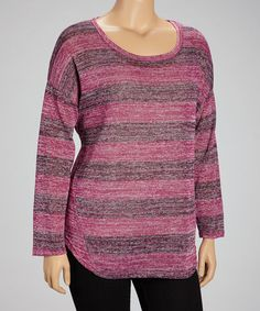 Take a look at this Costume Berry Marbled Stripe Top by Derek Heart on #zulily today!