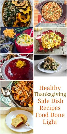 Pinning! Healthy Low Calorie Thanksgiving Side Dish Recipe Round Up www.fooddonelight.com