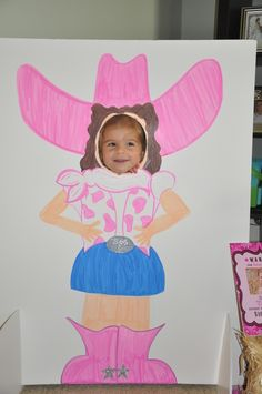 inspiration: pink cowgirl party photo stand-in