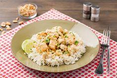 Cremiges Putenbrust-Thai-Curry mit lockerem Basmatireis