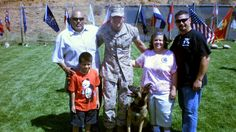 Family adopts Marine dog that was with their son when he was killed