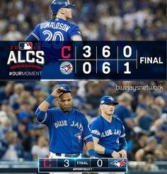 And the Toronto Blue Jays' season comes to an end at the hands of the Cleveland Indians. Babe Ruth, Toronto Blue Jays, Cleveland Indians, Best Games, Mlb, Hands, Baseball Cards, Sports, Sport