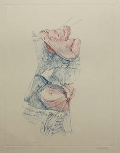 Eau-forte et aquatinte - Hans Bellmer - Oeillades ciselés,1972 / Dimension de l'image 36,6 x 28,0 cm