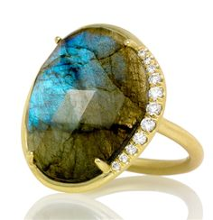Lauren K labradorite Stella ring #gemstonejewelry #multicolor