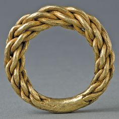 Viking Double Plaited Gold Ring, Sweden, 9th-11th Century AD