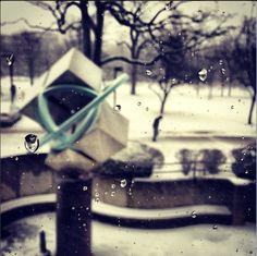 Snowy blocks, outside of Galvin Library. photo by IIT student Jefferson West www.iit.edu